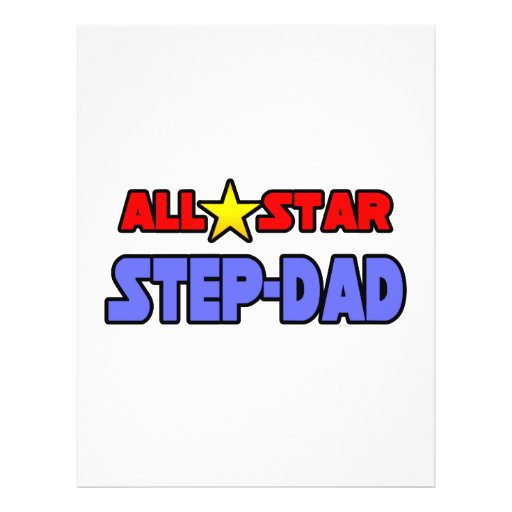All Star Step-Dad Personalized Flyer