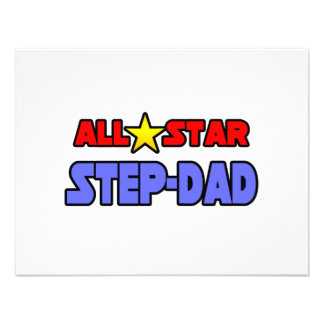 All Star Step-Dad Personalized Announcement