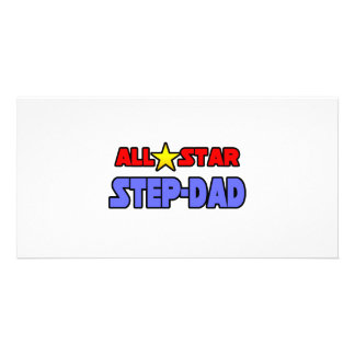 All Star Step-Dad Customized Photo Card