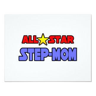 All Star Step-Mom 4.25x5.5 Paper Invitation Card
