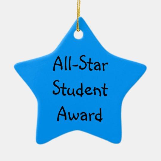 All-Star Student Award Commemorative Ceramic Ornament