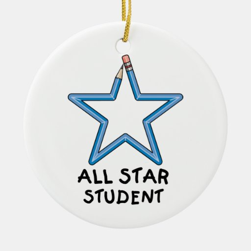 All Star Student Ornament (Double Sided)