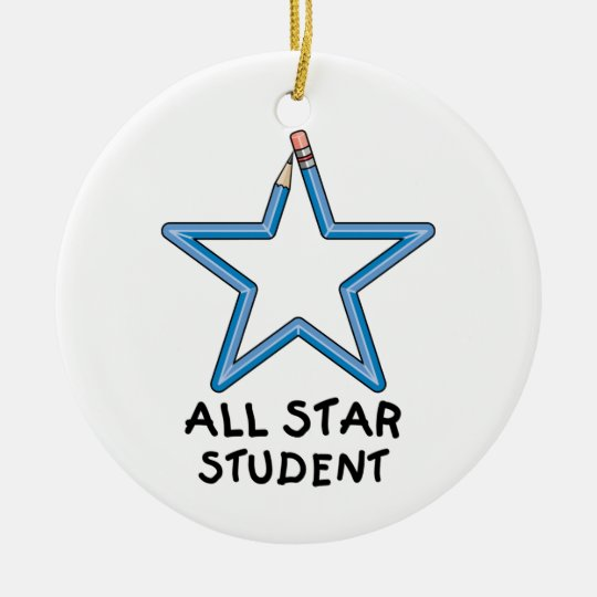 All Star Student Ornament (One Sided)