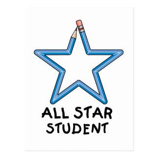 All Star Student Postcard