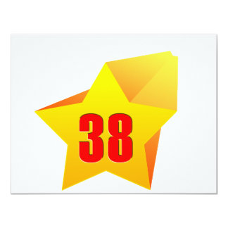 All Star Thirty Eight years old! Birthday 4.25x5.5 Paper Invitation Card