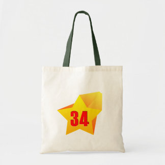 All Star Thirty Four years old! Birthday Tote Bags