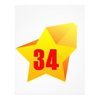 All Star Thirty Four years old! Birthday Letterhead Design