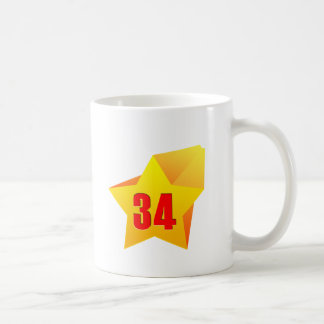 All Star Thirty Four years old! Birthday Mugs