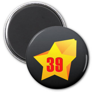 All Star Thirty Nine years old! Birthday 2 Inch Round Magnet