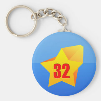 All Star Thirty Two years old! Birthday Key Chains