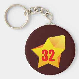 All Star Thirty Two years old! Birthday Key Chain