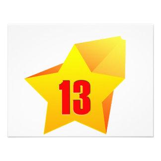 ¡All Star trece años Cumpleaños Comunicados Personales