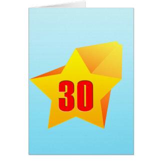¡All Star treinta años Cumpleaños Tarjetas