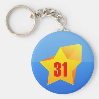 ¡All Star treinta un años! Cumpleaños Llaveros Personalizados