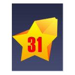 ¡All Star treinta un años! Cumpleaños Postal