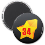 ¡All Star treinta y cuatro años! Cumpleaños Imán De Nevera
