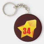 ¡All Star treinta y cuatro años! Cumpleaños Llaveros