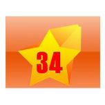 ¡All Star treinta y cuatro años! Cumpleaños Postal