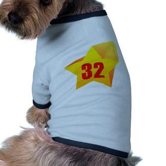 ¡All Star treinta y dos años! Cumpleaños Camisetas De Perro