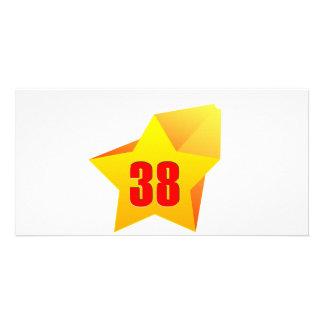¡All Star treinta y ocho años! Cumpleaños Tarjeta Fotográfica