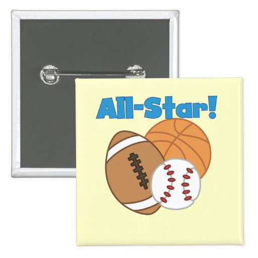 All Star Tshirts and Gifts 2 Inch Square Button