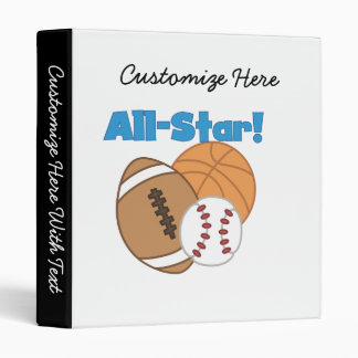 All Star Tshirts and Gifts 3 Ring Binder