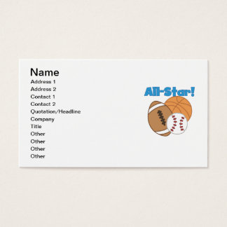 All Star Tshirts and Gifts Business Card