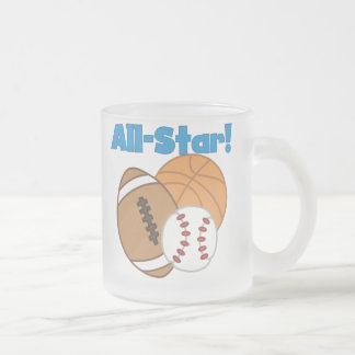 All Star Tshirts and Gifts 10 Oz Frosted Glass Coffee Mug
