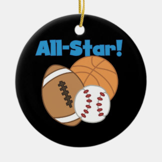 All Star Tshirts and Gifts Christmas Tree Ornaments