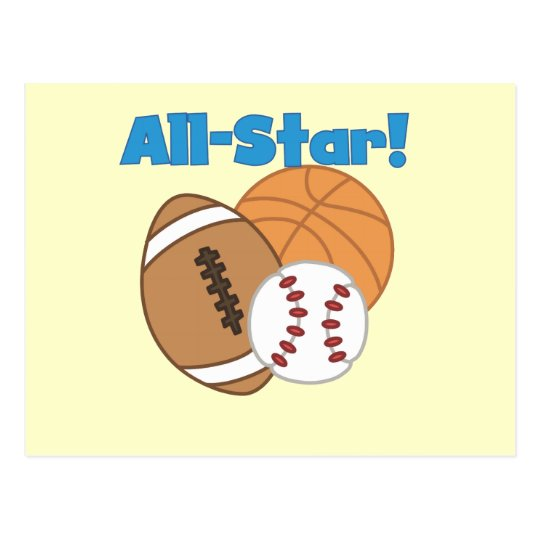 All Star Tshirts and Gifts Postcard