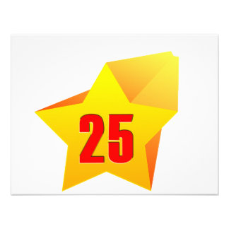 All Star Twenty Five years old Birthday Personalized Invitations