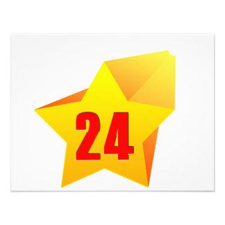 All Star Twenty Four years old Birthday Invites