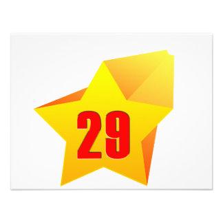 All Star Twenty Nine years old Birthday Personalized Invite