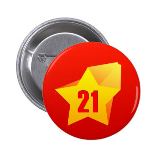 All Star Twenty One years old! Birthday Pinback Buttons