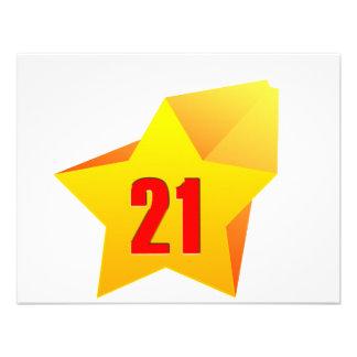 All Star Twenty One years old Birthday Custom Invites