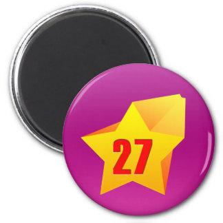 All Star Twenty Seven years old! Birthday 2 Inch Round Magnet