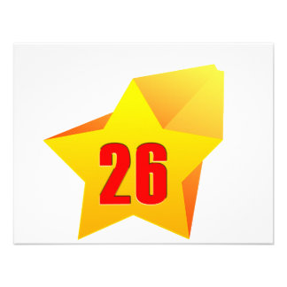 All Star Twenty Six years old Birthday Personalized Announcement