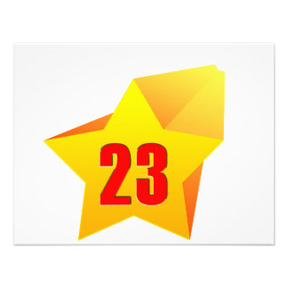 All Star Twenty Three years old Birthday Personalized Announcement