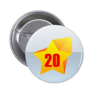All Star Twenty years old Birthday Button