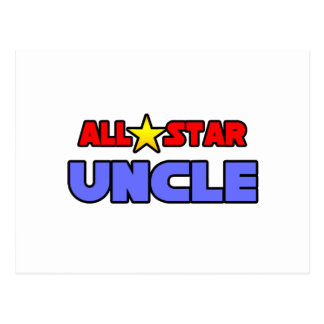All Star Uncle Postcard