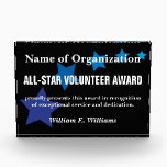 """All-Star Volunteer Service Appreciation Award<br><div class=""""desc"""">Your dedicated volunteers are valuable beyond measure. Our unique gifts and customized items recognize and celebrate your volunteers&#39; commitment and hard work. Volunteers are the lifeblood of your organization, so make sure they are pumping with energy! We understand that volunteers are important to your organization, so we've made volunteer appreciation...</div>"""