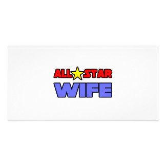 All Star Wife Personalized Photo Card