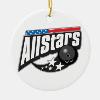 All Stars Bowling Ceramic Ornament
