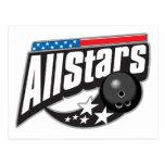 All Stars Bowling Postcard
