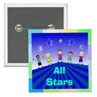 All Stars Kids Button Pin