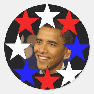 ALL STARS OBAMA Commemorative Classic Round Sticker