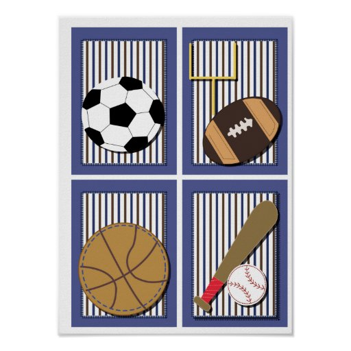 All Stars Sports Boys Wall Art Soccer Football