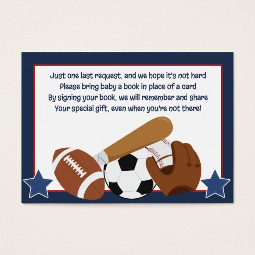 All Stars Sports Enclosure Book Request Cards