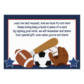 All Stars Sports Enclosure Book Request Cards Large Business Card