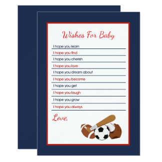 All Stars Sports Wishes for Baby Card